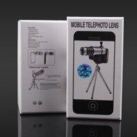 Ống kính Lens 12x cho điện thoại iPhone 4 4S Bạc - Lens5