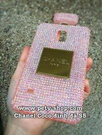 Ốp Chanel Coco đính đá nhỏ Samsung S5