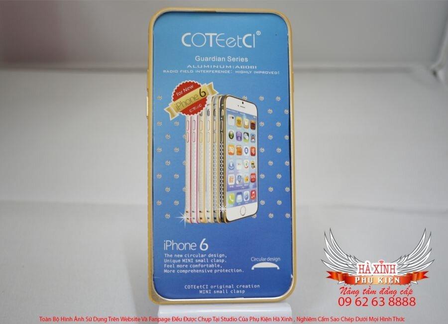 Ốp viền Coteetci trơn iPhone 6
