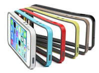 Ốp viền Usams Bumper Rainbow Iphone 5S Đen