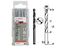 Bộ mũi khoan sắt 10 mũi HSS-G Bocsh 2608595055, 3mm