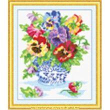 Tranh thêu chữ thập hoa - DLH-YA662