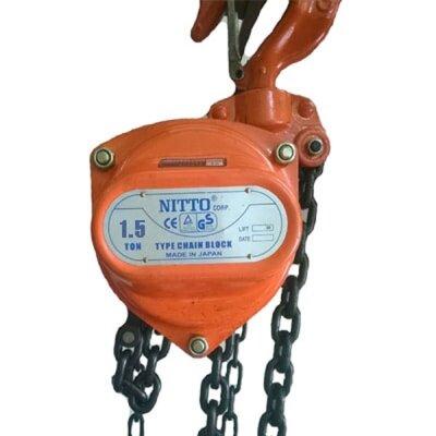 Pa lăng xích kéo tay 1.5 tấn 5 mét Nitto 15VP5