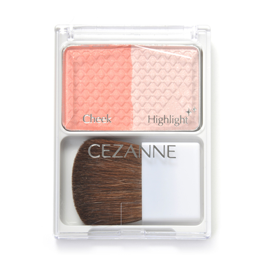 Phấn má Cezanne Cheek & Highlight #02 Pink Coral
