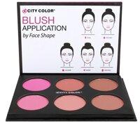 Phấn má hồng City Color Glow Pro Blush Palette Shimmer Collection