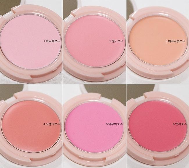 Phấn má hồng dạng kem chiết xuất hoa hồng Skinfood Rose Essence Soft Cream Blusher