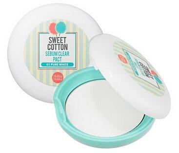 Phấn phủ trang điểm Holika Holika Sweet Cotton Sebum Clear Pact