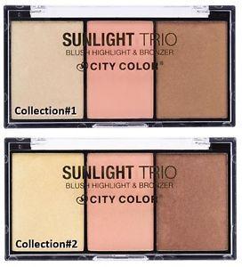 Phấn tạo khối City Color Sunlight Trio BLush Highlight & Bronzer