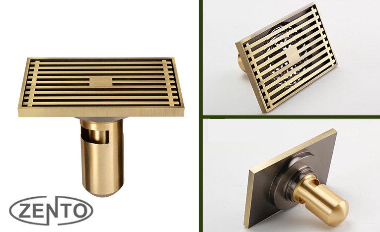 Phễu thoát sàn chống mùi hôi Zento ZT558 - 9x14cm