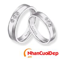 Nhẫn cưới vàng trắng NCD 2027