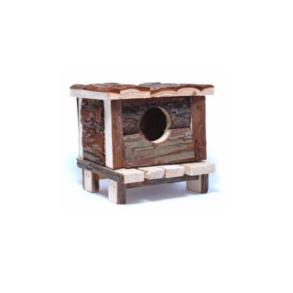 Phòng ngủ gỗ hình ngôi nhà -dành cho Hamster-AM086