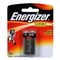 Pin 9V Energizer 522-BP1 Max Power Seal Alkaline 9V