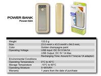 Pin dự phòng Lithium PNY Power Bank, 5Vol, mau Vang(52A)