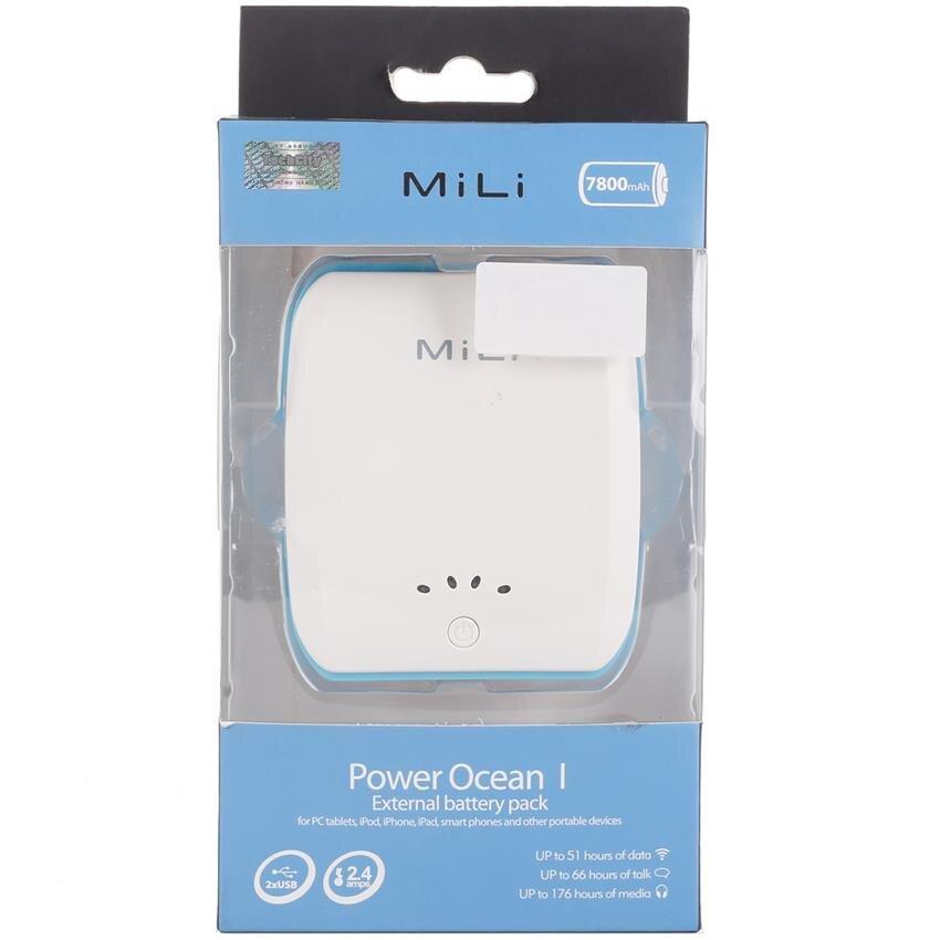 Pin dự phòng Mili Power Ocean I (HB-B08) - 7800mAh