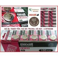 Pin nút, cúc, khuy áo Pin Maxell CR2032 - CR2032