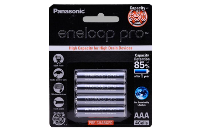 Pin sạc Panasonic Eneloop (4v AAA) BK-4HCCE/4BV