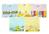Bộ 5 Áo cài vai tay ngắn màu Nanio AD124 - size 2 , 3-6 tháng