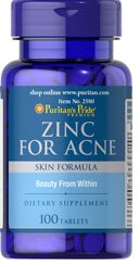 Puritan's pride Zinc for Acne 100 viên
