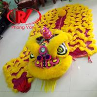 Đầu lân múa lông cừu vàng DLV-85135LCV