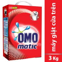 Bột giặt OMO Matic cho máy giặt cửa trên dạng hộp 3kg