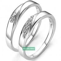 Nhẫn đôi Bạc Hiểu Minh NC303