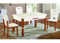 Bàn ghế gỗ phòng ăn cao cấp 4 người ngồi Hòa Phát BA128 + 4GA128