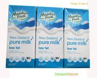 Thùng 12 hộp 1L - Sữa tươi Meadow Fresh tiệt trùng ít béo (Sữa tươi ngoại)