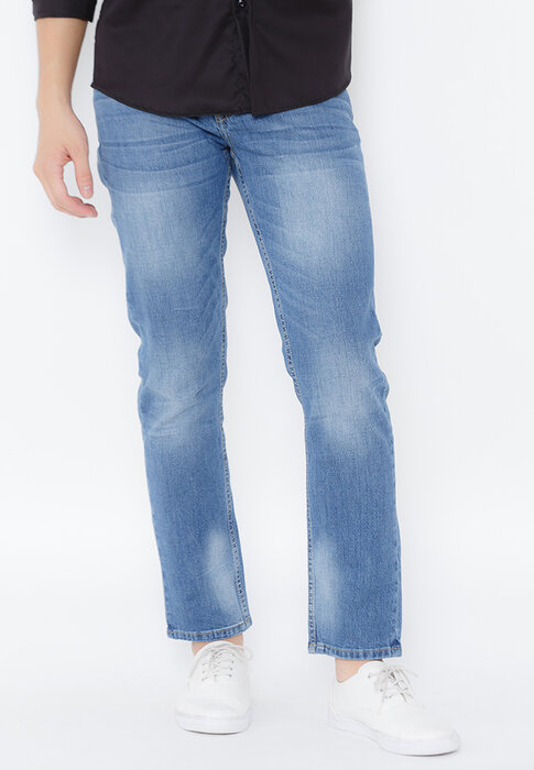 Quần jeans Novelty Slim straight xanh denim NQJMMTNCSI1604010