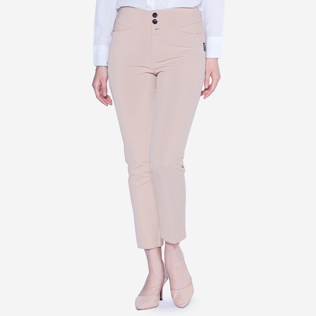 Quần kiểu màu be túi chéo The One Fashion QL148BE1