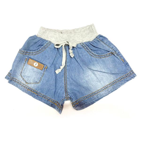 Quần short jeans lưng thun xám Nanio Q0038