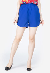 Quần shorts Lamer cạp chun xanh coban
