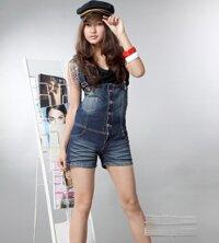 Quần yếm Jeans short