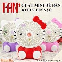 Quạt Để Bàn Mini Kitty Pin Sạc SQ-1881