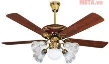 Quạt trần đèn chùm cánh gỗ Kim Thuận Phong KN508 - 5 cánh