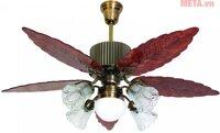 Quạt trần đèn chùm cánh gỗ Kim Thuận Phong BT586i - 5 cánh