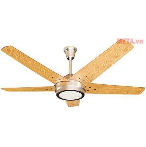 Quạt trần đèn Led cánh gỗ Kim Thuận Phong HL15 LED - 5 cánh