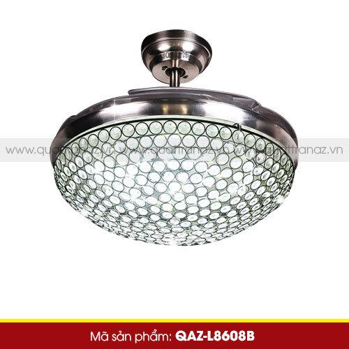 Quạt trần đèn trang trí Diamond Hero QAZ-L8608B - 80W