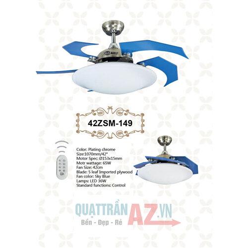 Quạt trần trang trí Celling Fan QAZ-42ZSM-149