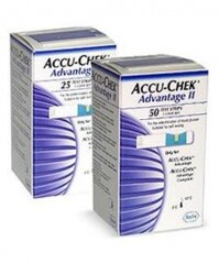 Que thử đường huyết Accu-Check Advantage II 25