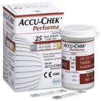 Que thử đường huyết Accuchek Performa - 25 que