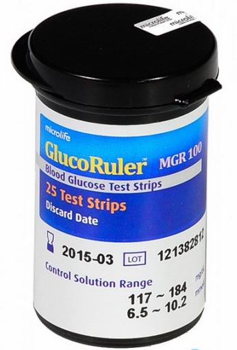 Que thử đường huyết Microlife MGR100 (MGR-100) – 25 que