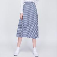 Chân váy dài họa tiết kẻ sọc Can De Blanc S16T009