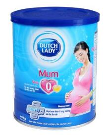Sữa bột Dutch Lady Cô gái Hà Lan Mum - hộp 400g (dành cho bà mẹ mang thai và cho con bú)
