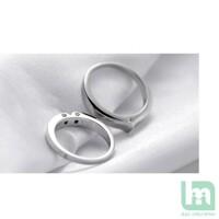 Nhẫn đôi Bạc Hiểu Minh NC142 nụ hôn (Bạc)