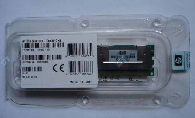 Ram sever HP 16GB Dual Rank x4 - DDR3 - Bus 1333MHz - PC3L 10600 (627812-B21)