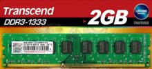 RAM Transcend DDR3 2GB Bus 1333Mhz - PC3 10600