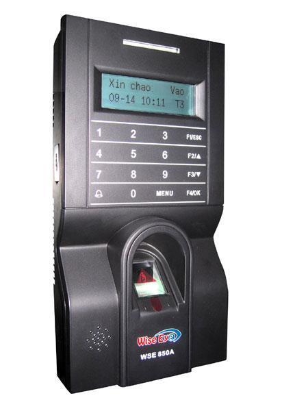 Máy chấm công vân tay, thẻ cảm ứng và kiểm soát cửa Wise Eye WSE-850A ...