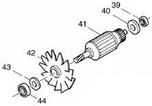 Rotor máy cắt sắt 2414NB Makita 510240-7