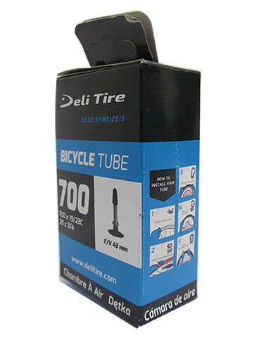 Ruột xe DELI TIRE 700x19/23 FV 43mm