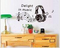 Decal dán tường tai nghe nhạc BinBin PK192 - 110 x 140 cm